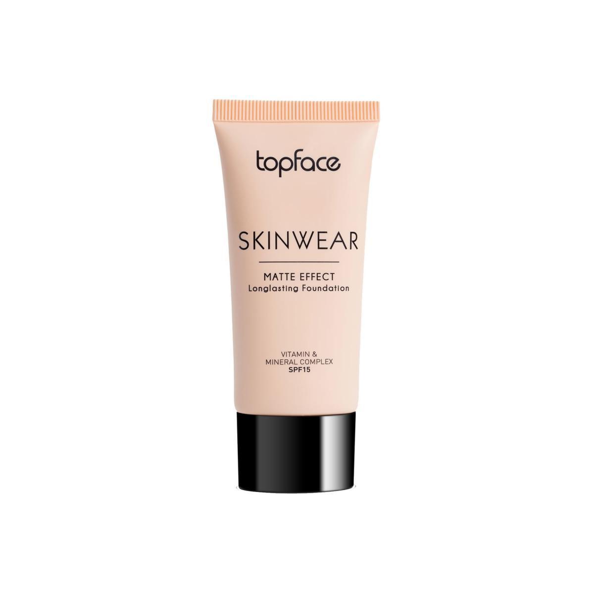 کرم تیوبی اسکین ویر تاپ فیس - Topface Skinwear Matte Effect Longlasting Foundation