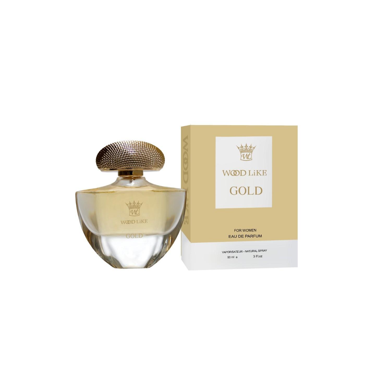 ادوپرفیوم زنانه وودلایک مدل Gold گلد 90 میلیلیتر - Woodlike Gold Eau de Parfum For Women