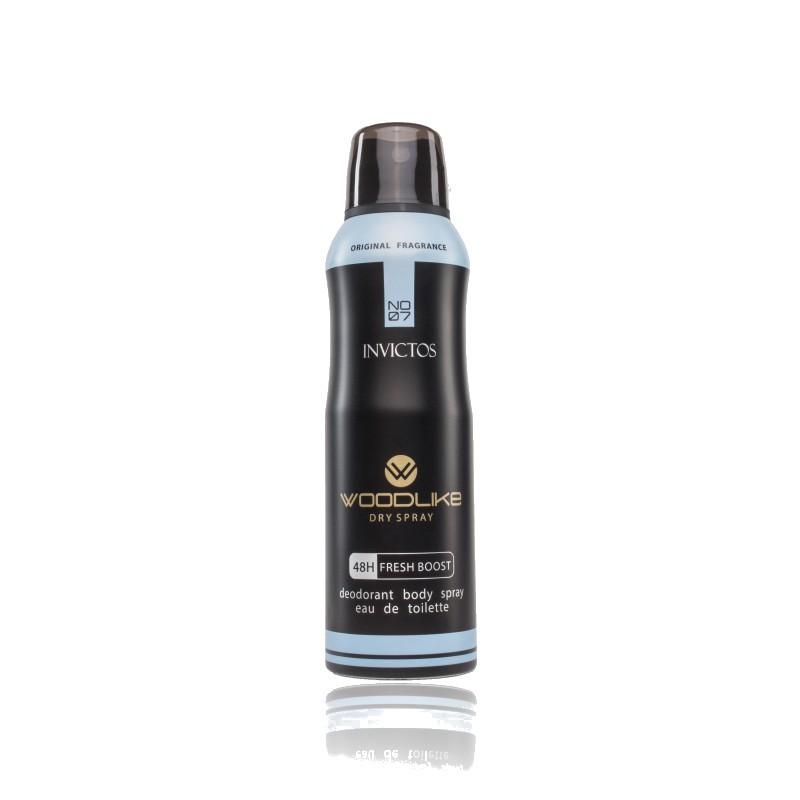 اسپری بدن مردانه اینویکتوس وودلایک 200 میلی لیتر - WoodLike Invictos Body Spray For Men