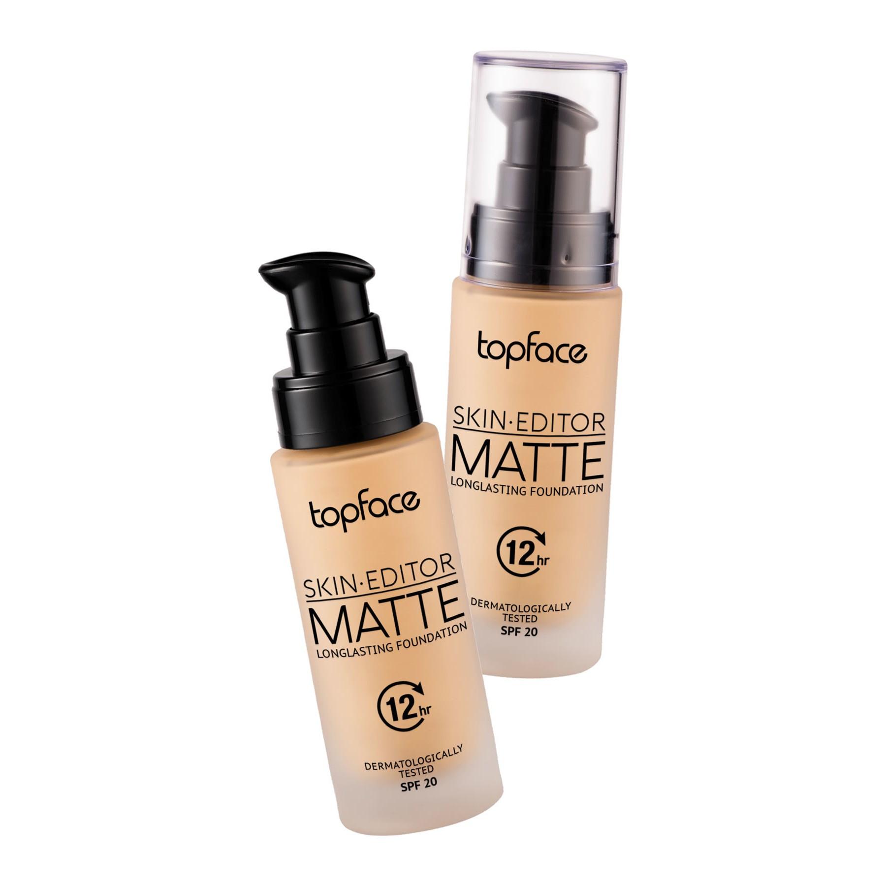 کرم پودر شیشه ای اسکین ادیتور مات ماندگار تاپ فیس - Topface Skin Editor Matte Longlasting Foundation