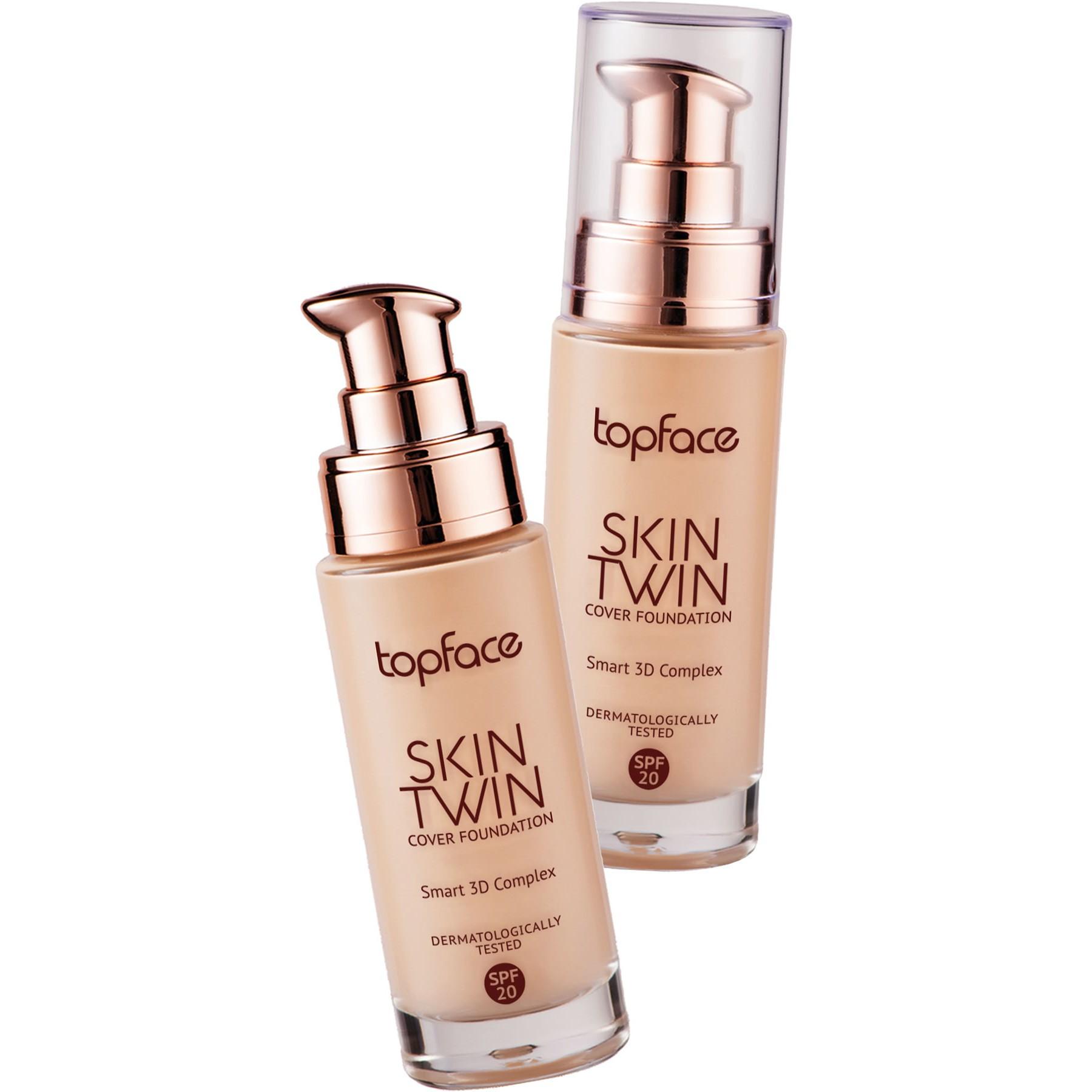 کرم پودر شیشه ای اسکین توین تاپ فیس - Topface Skin Twin Cover Foundation