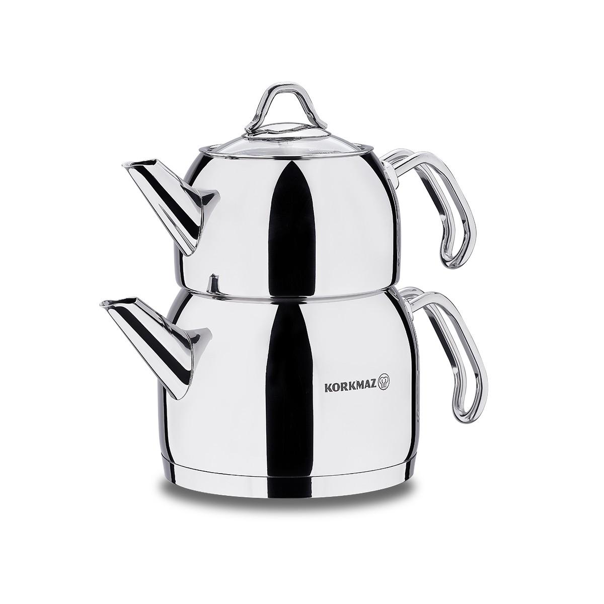 کتری و قوری کرکماز مدل Provita A101 - Korkmaz Provita A 101 Kettle and Teapot